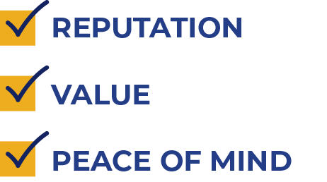 Reputation, Value, Peace of Mind