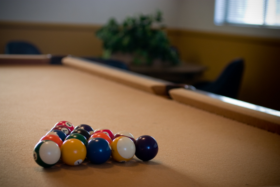 Diamond Bar estates pool table