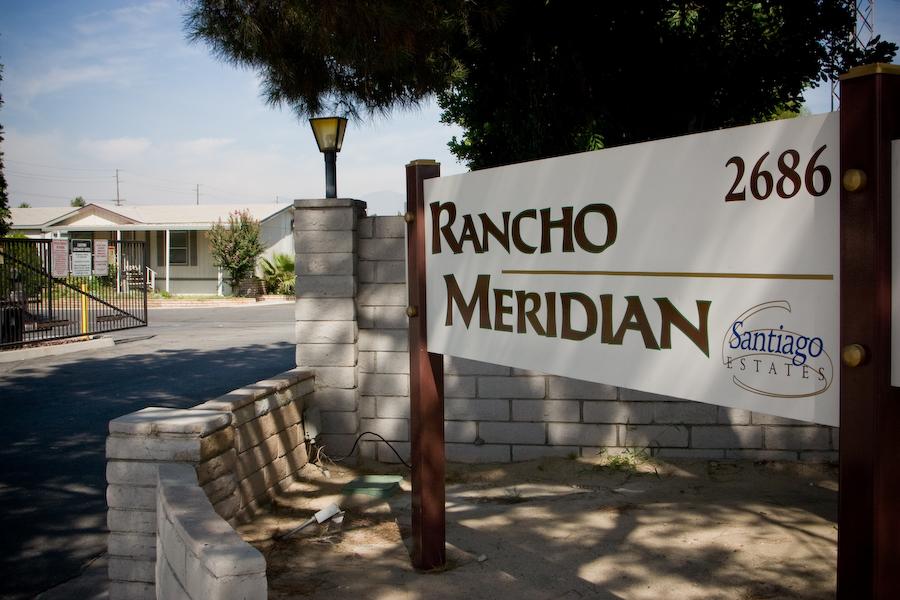 Rancho Meridian sign