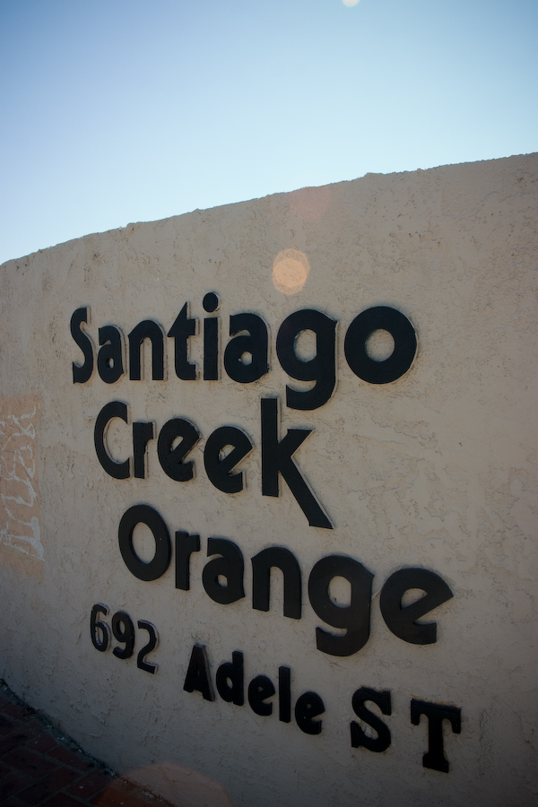Santiago Creek Orange sign